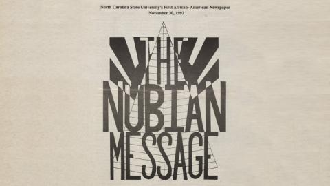 "The ""Nubian Message"", November 30, 1992 issue and other issues are now browsable online."