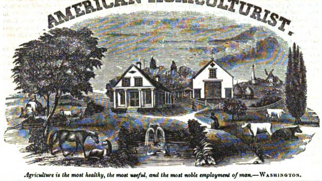 Masthead of the American Agriculturalist, July 1849.