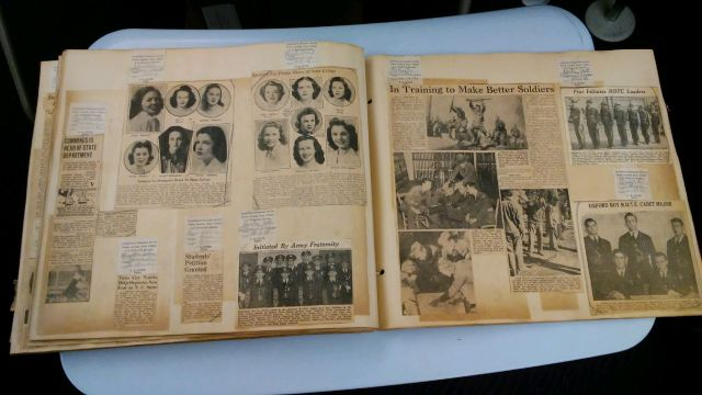 Scrapbook of newsclippings on students, alumni, and faculty, 1942 (Office of Public Affairs Records, Oversizeflatbox 55)
