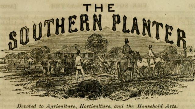 Masthead of The Southern Planter, April 1859.