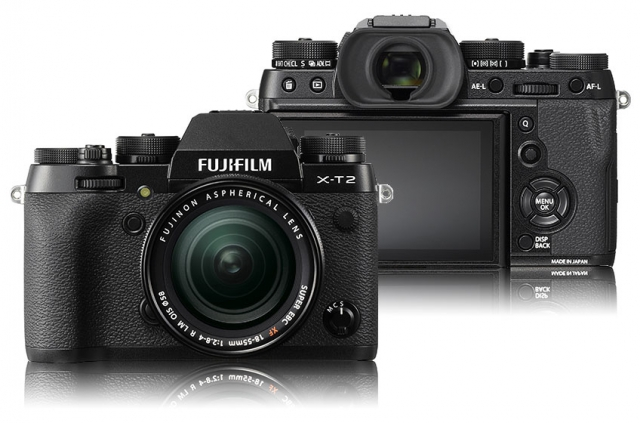 FujiFilm Mirrorless Camera front and rear view