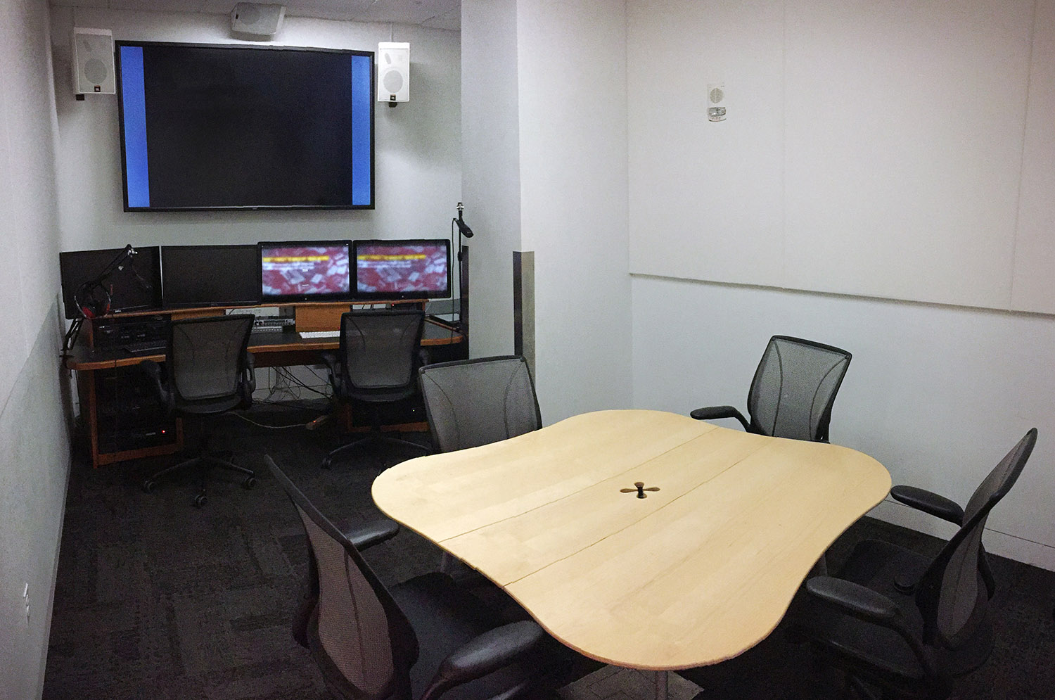 The 4K video studio at Hunt Library at NC State
