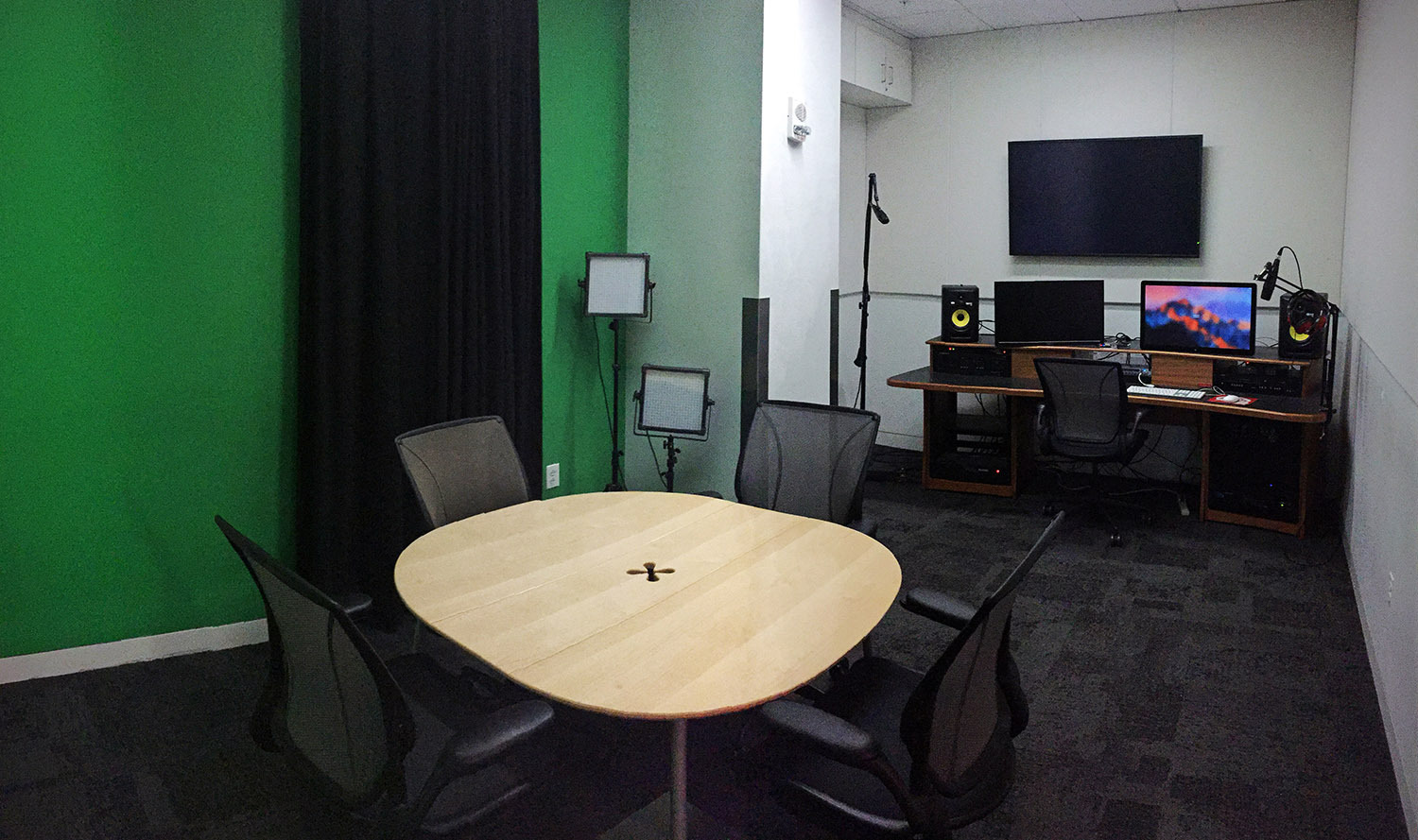 The green screen studio at Hunt Library at NC State