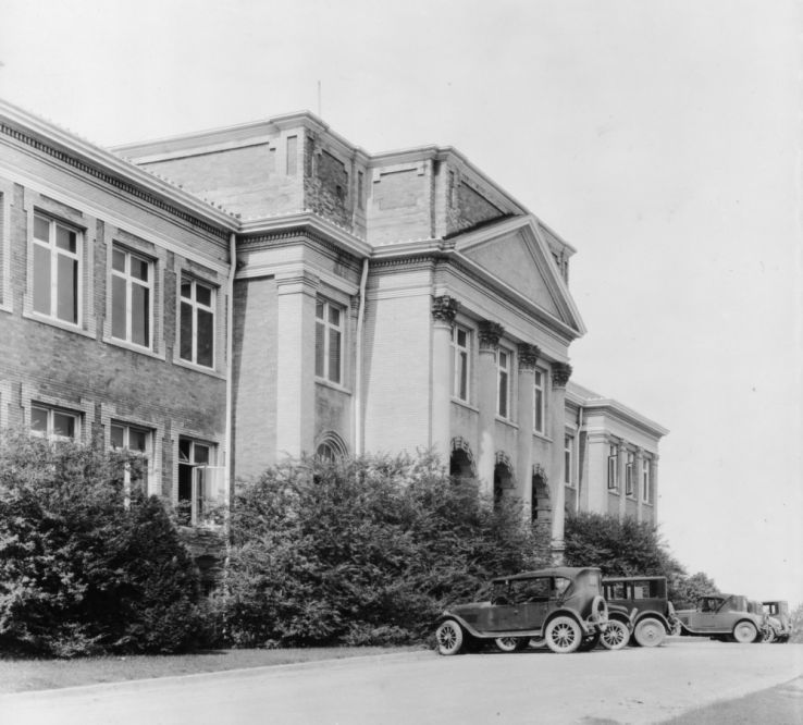 Patterson Hall, 1920s.  Rehabilitation classes met on the first floor.