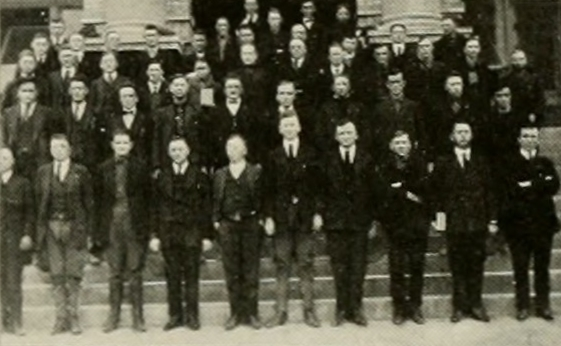 Rehabilitation students.  Photo from the 1921 Agromeck yearbook.