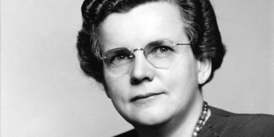 1940s: Gertrude M. Cox, the first female professor and department head at NC State, and founder of the university's Department of Experimental Statistics.