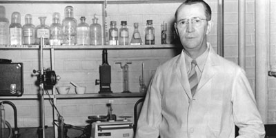 1940s: Chemistry Professor George Howard Satterfield.  Satterfield's son and grandson are both PAMS alumni.